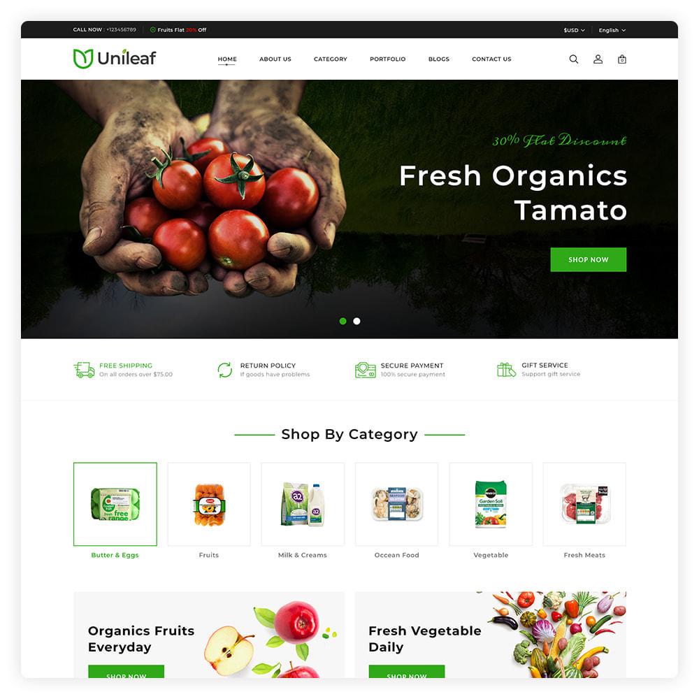 theme - Alimentation & Restauration - Unileaf Organic Store - 2