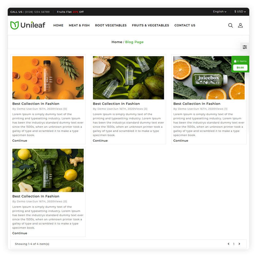 theme - Alimentation & Restauration - Unileaf Organic Store - 6