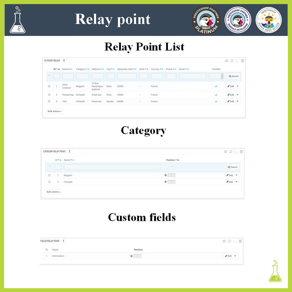 module - Abholstationen & Selbstabholer - Manage your relay points - 2
