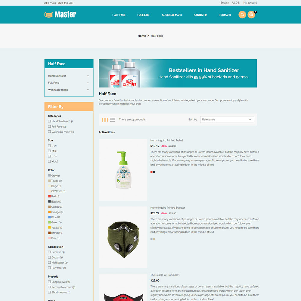 theme - Salute & Bellezza - Medical Health Mask - Sanitizer Store - 6
