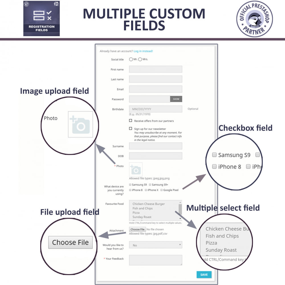module - Cadastro e Processo de Pedido - Custom Registration Fields - Registration Validation - 4