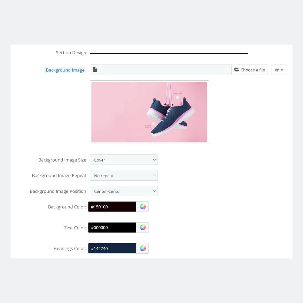 module - управления товарами на стартовой странице - Product Promo Landing Pages - 6