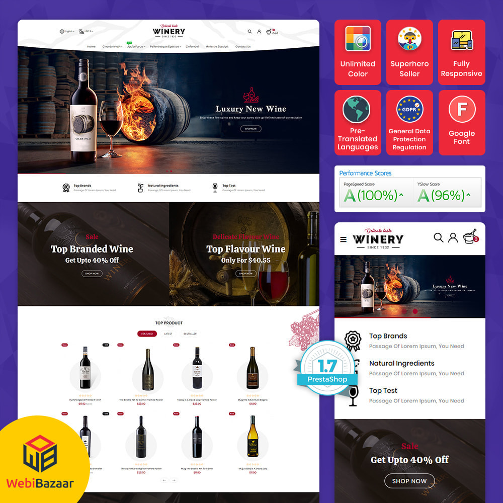 theme - Boissons & Tabac - Winey - Beer & Wine Store - 1