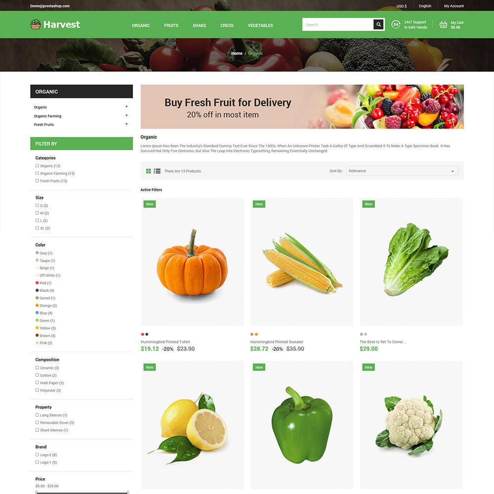 theme - Cibo & Ristorazione - Harvest Vegetables - Negozio di frutta fresca - 4