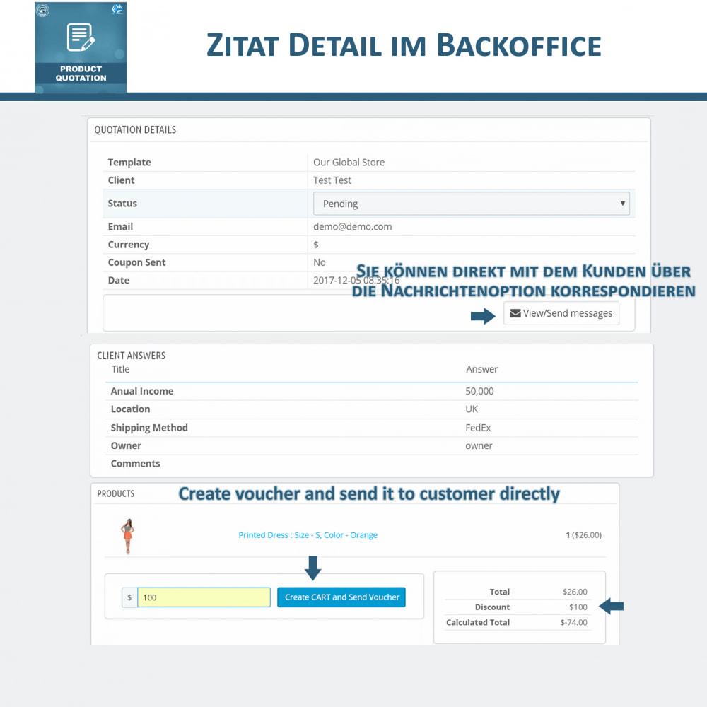 module - Angebotsmanagement - Produkt Zitat Modul - 6