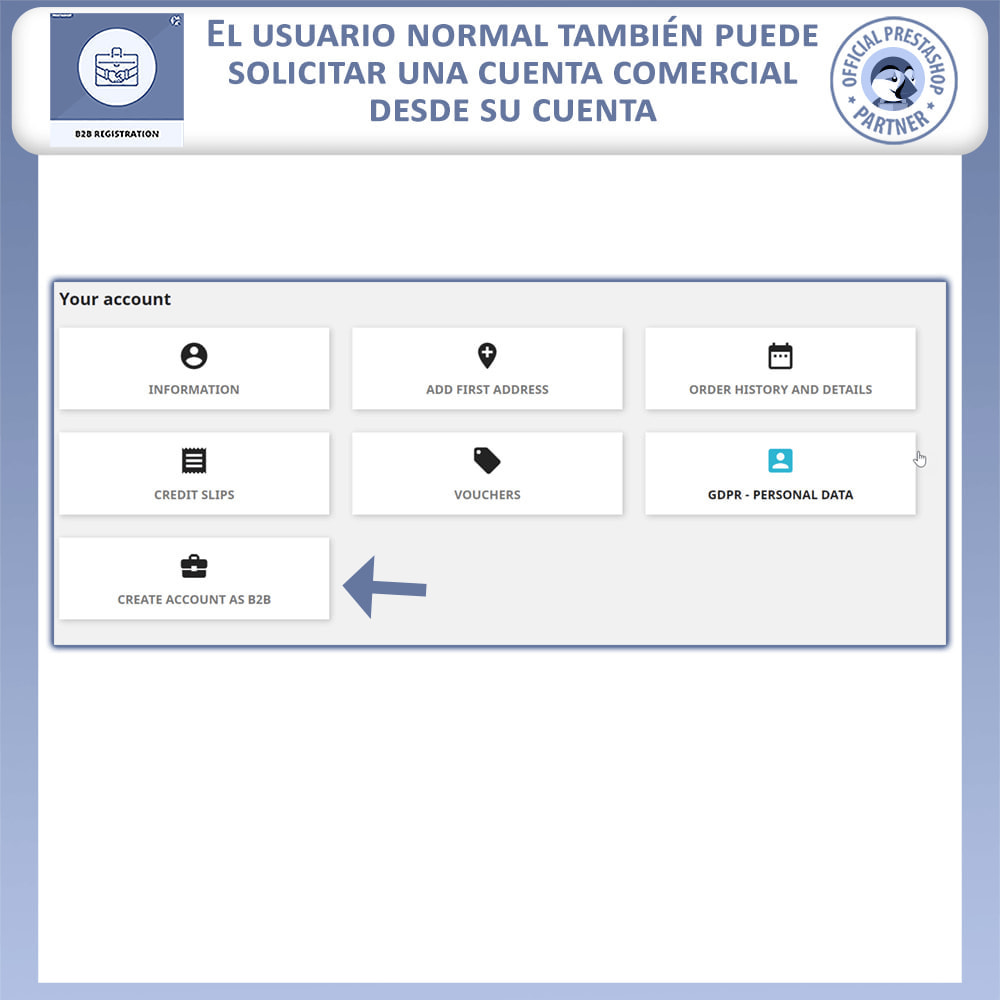 module - Inscripción y Proceso del pedido - Registro B2B - 4
