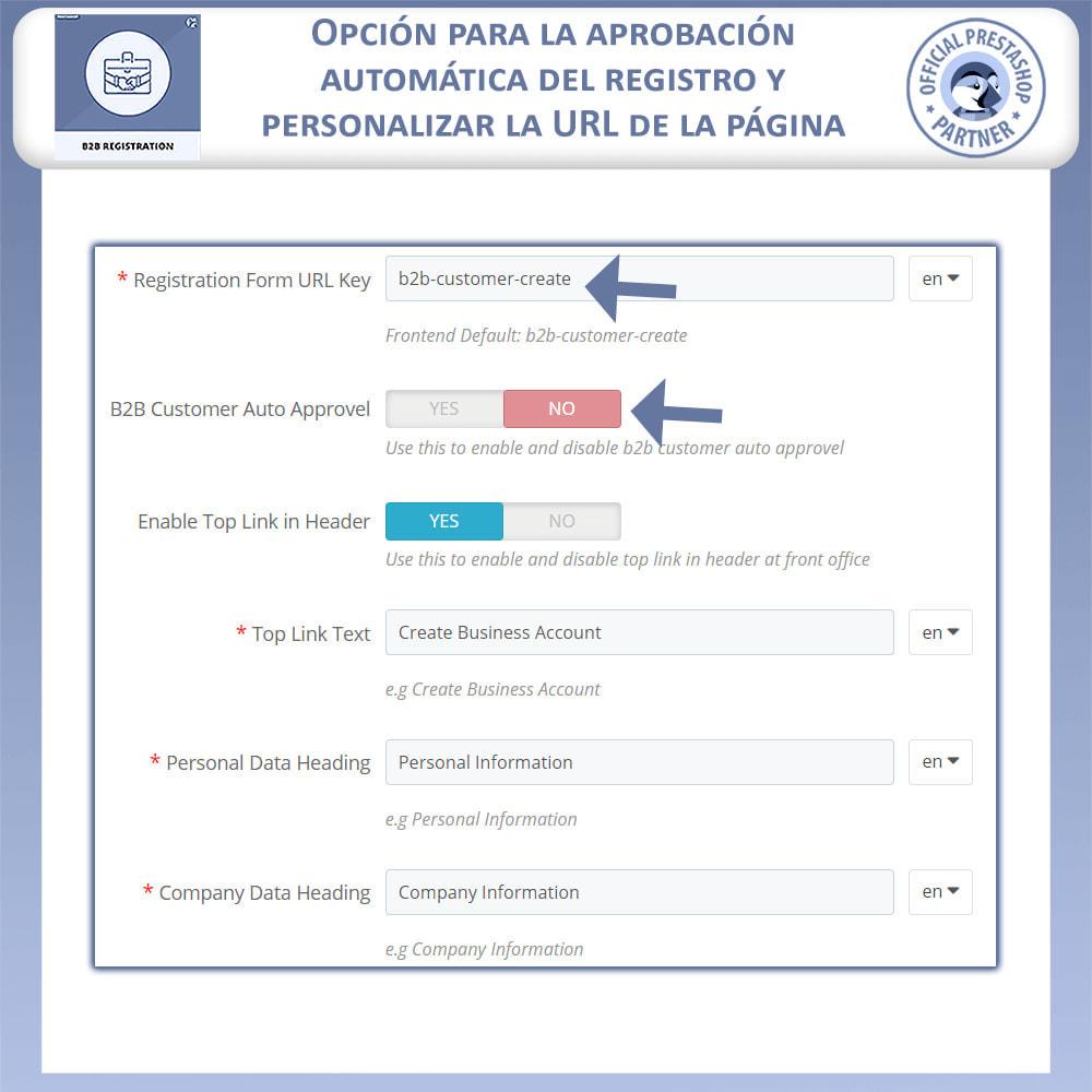 module - Inscripción y Proceso del pedido - Registro B2B - 6