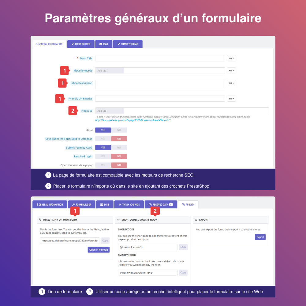 module - Formulaires de Contact & Sondages - Form Builder- Formulaire de contact, produit, SGC,devis - 4