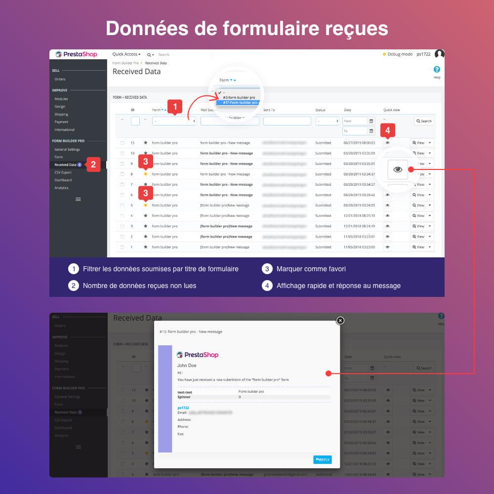 module - Formulaires de Contact & Sondages - Form Builder- Formulaire de contact, produit, SGC,devis - 11