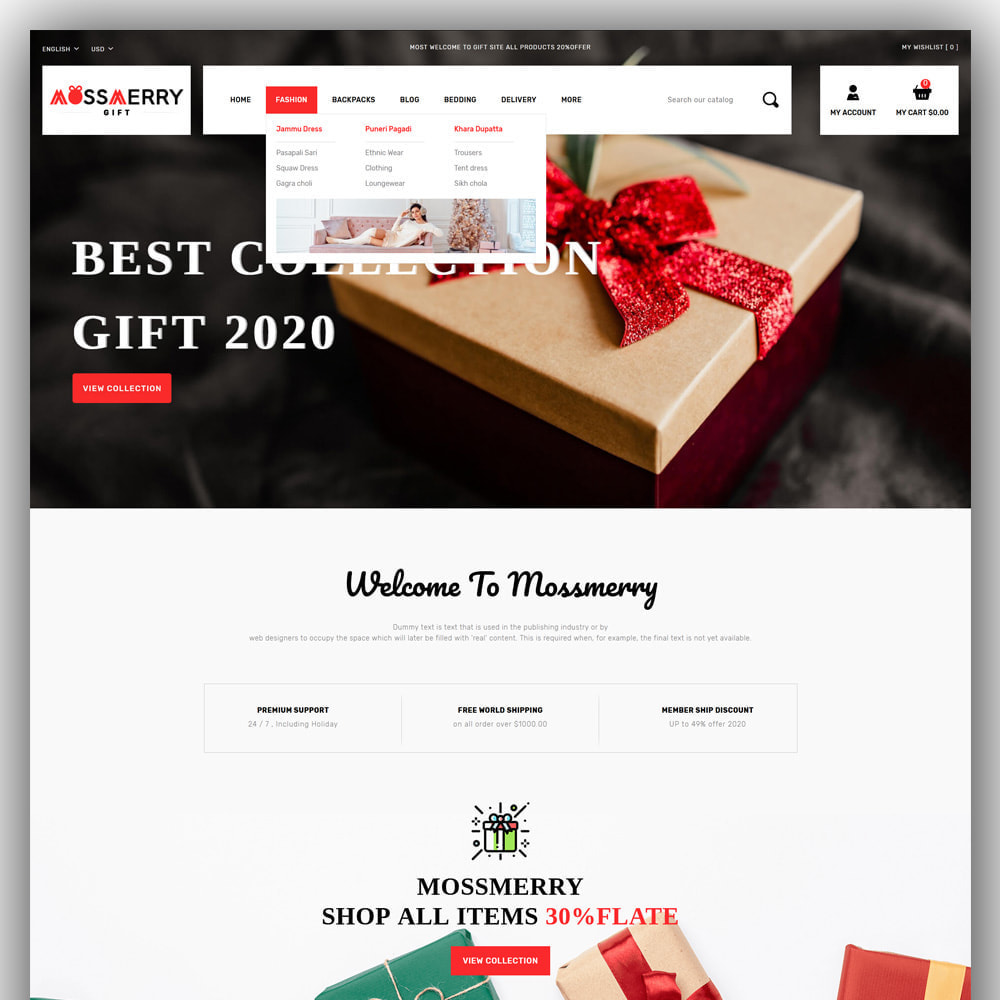 theme - Gifts, Flowers & Celebrations - Mossmerry - Gift Store - 2