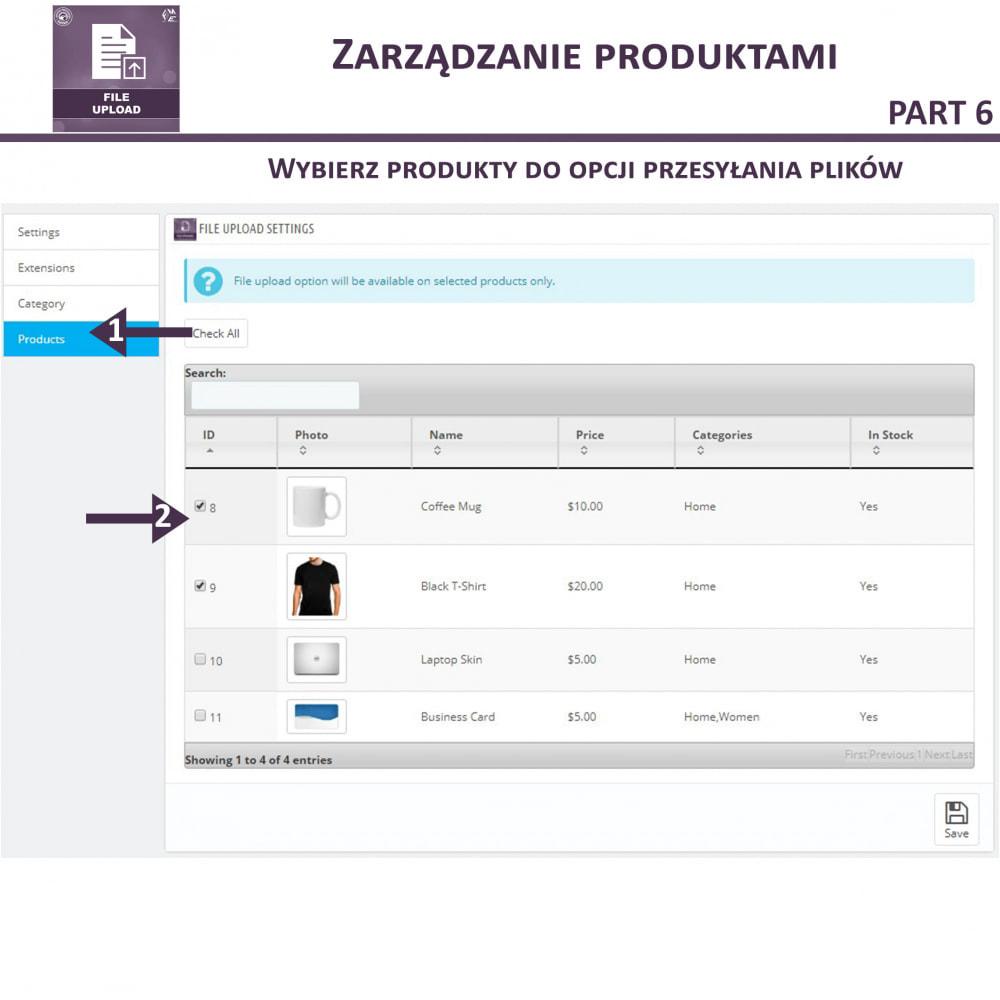 module - Dodatkowe informacje & Zakładka produktu - Przesyłanie Pliku Przez Klienta z Produktu, Cart - 13
