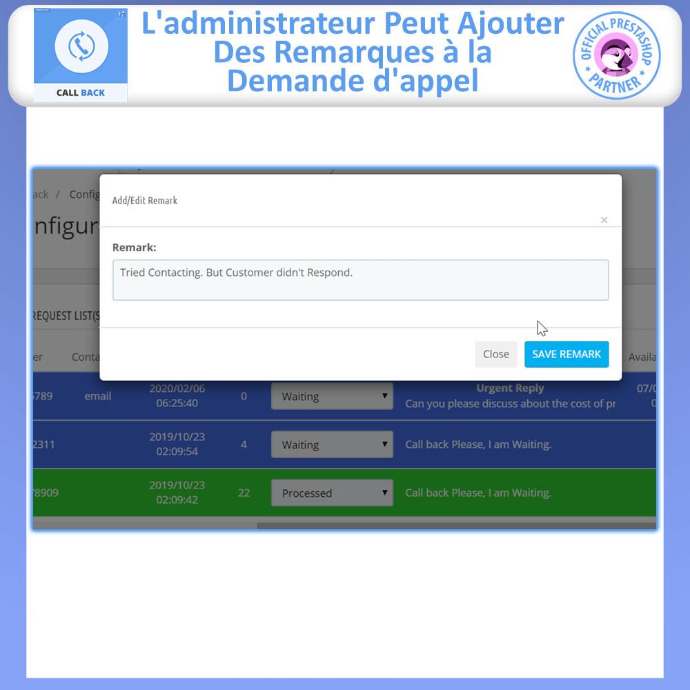module - Support & Chat Online - Rappeler - Formulaire de rappel fixe et flottant - 7