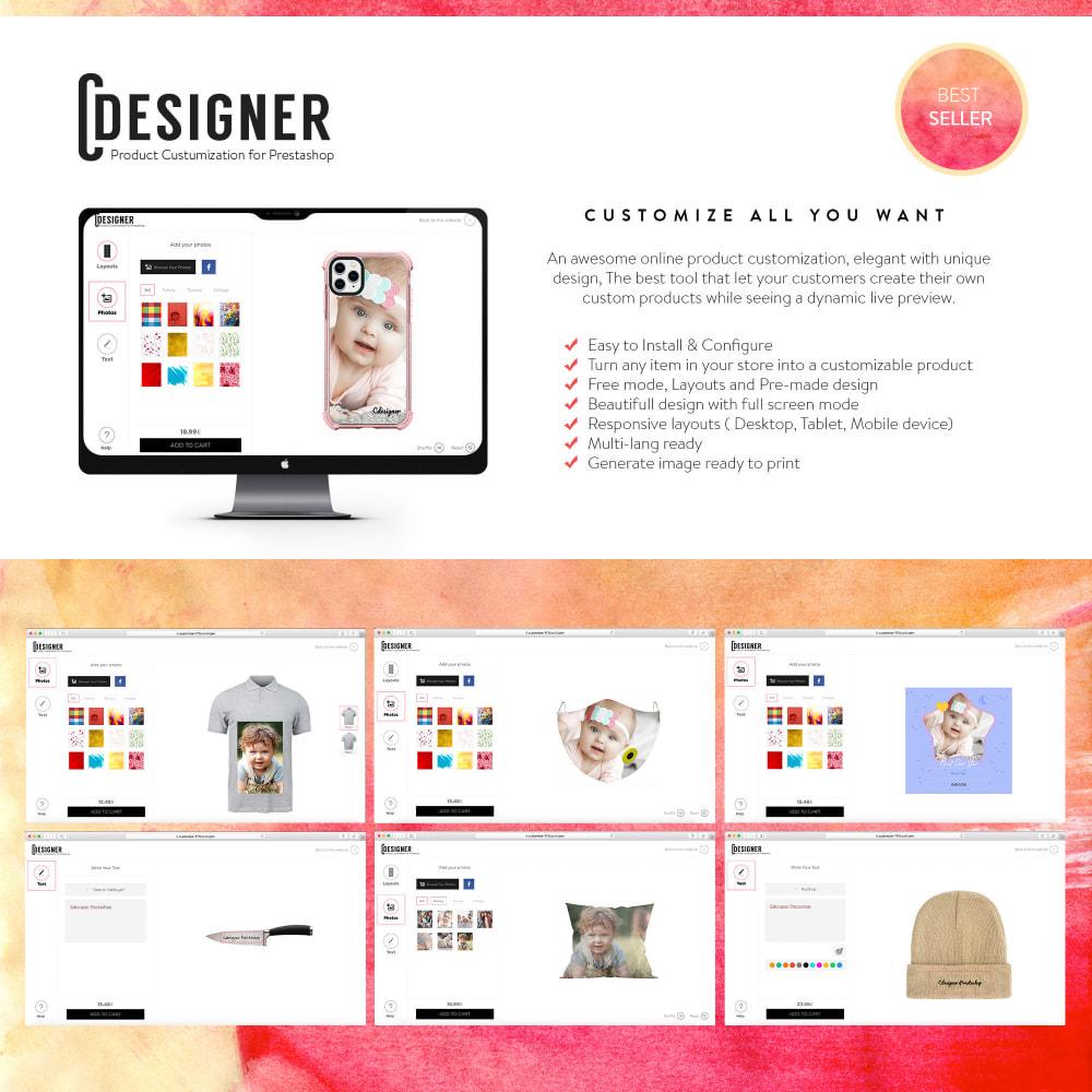 module - Combinaciones y Personalización de productos - Product Customization Designer - Custom Product Design - 1