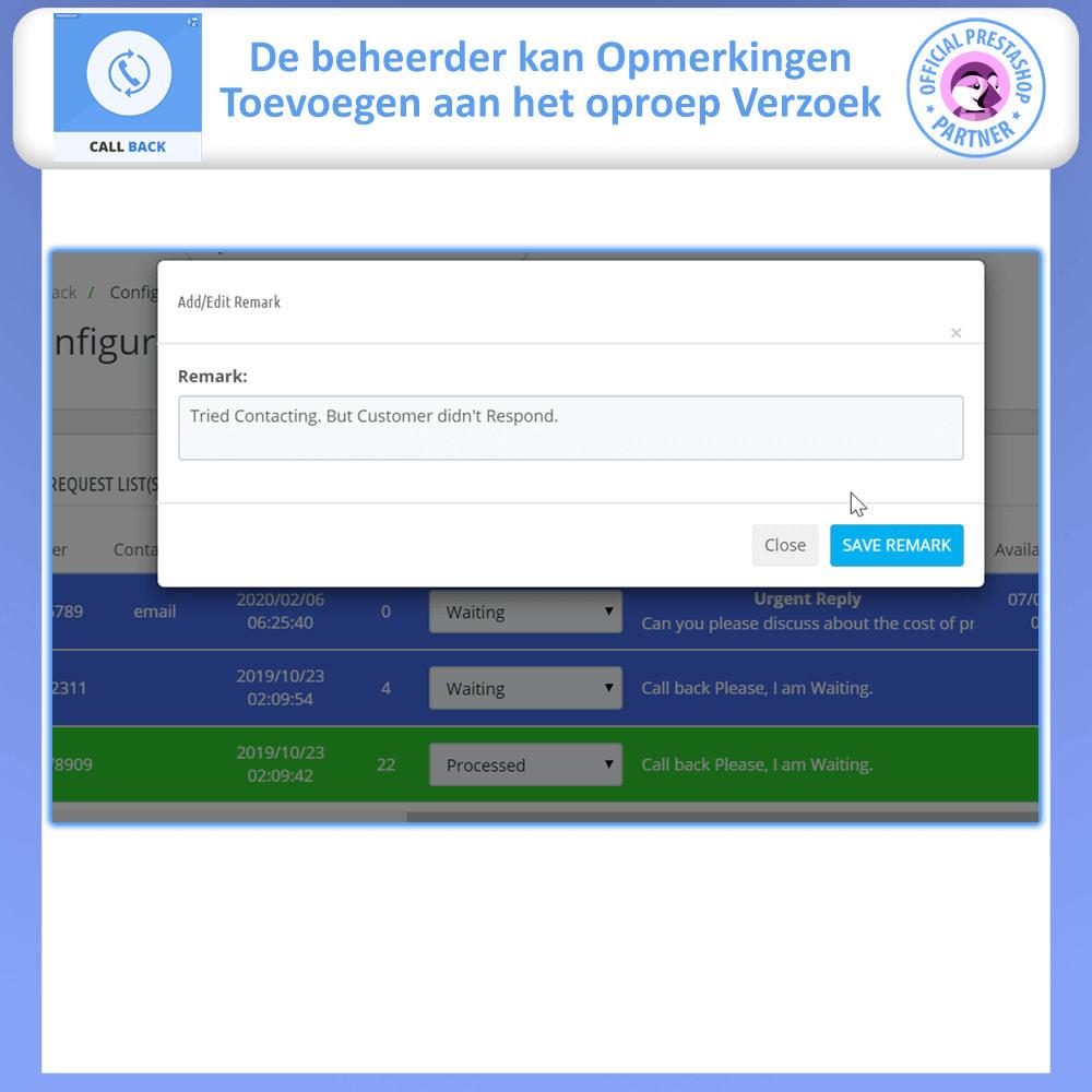 module - Ondersteuning & Online chat - Terugbellen - vast en zwevend terugbelformulier - 7