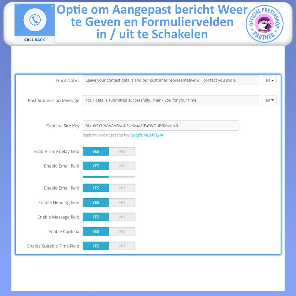 module - Ondersteuning & Online chat - Terugbellen - vast en zwevend terugbelformulier - 10