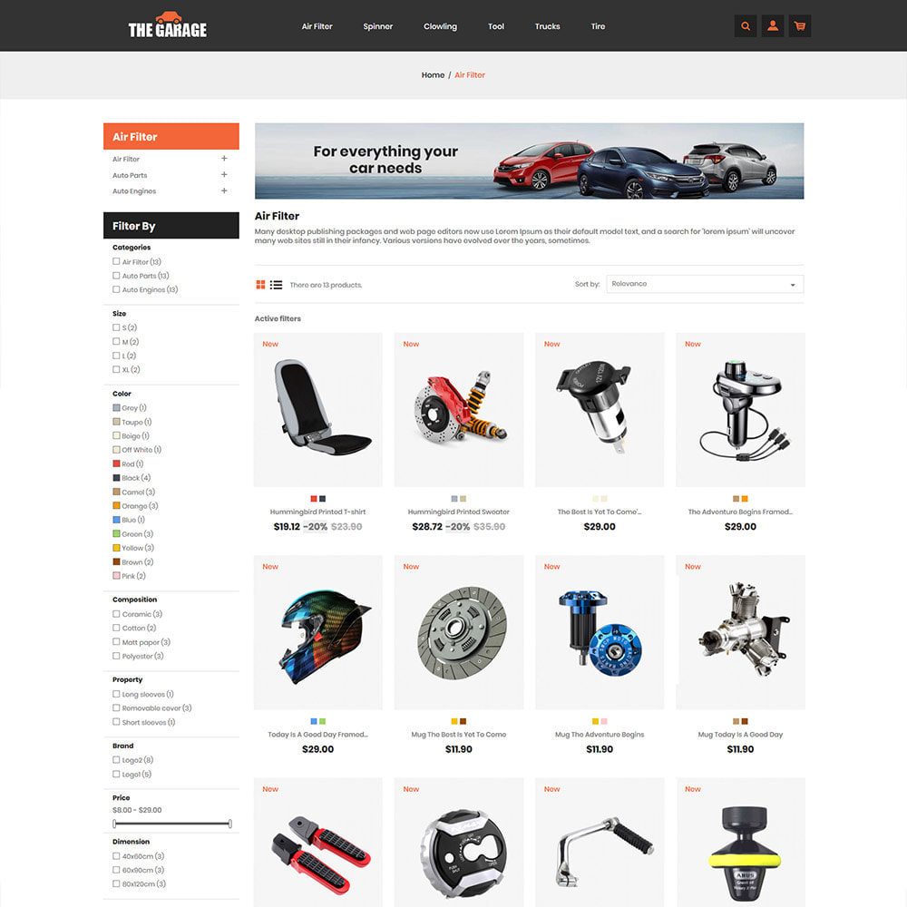 theme - Auto & Moto - The Garage Car - Auto Store - 4
