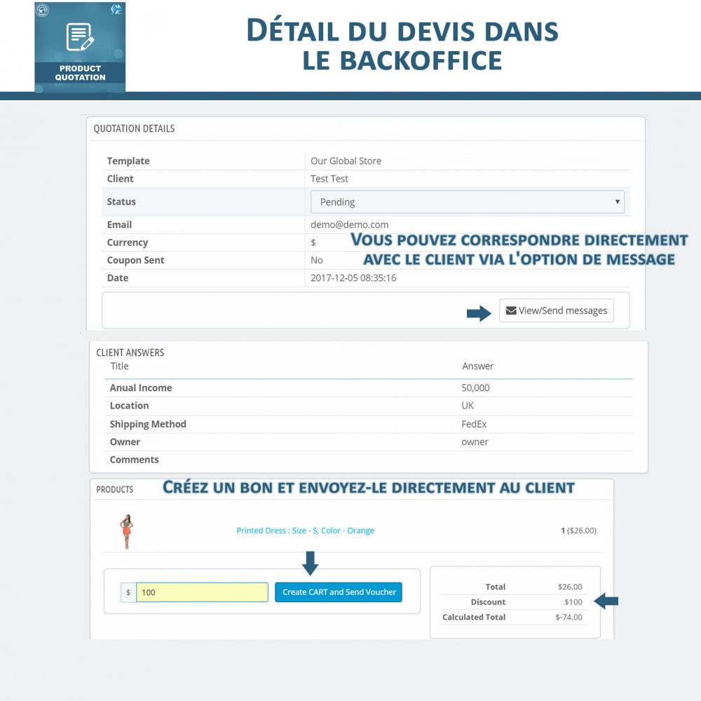 module - Devis - Devis Produit, Autoriser le client à demander un devis - 11