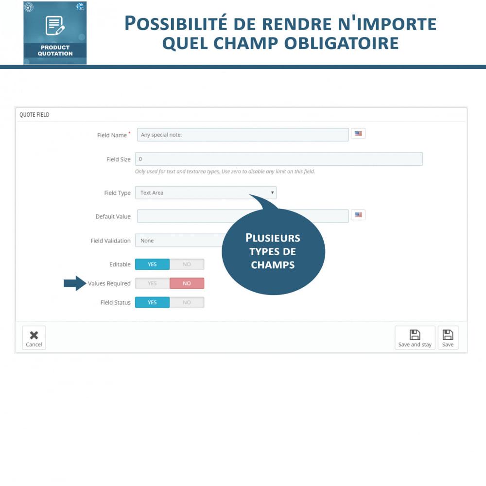 module - Devis - Devis Produit, Autoriser le client à demander un devis - 16