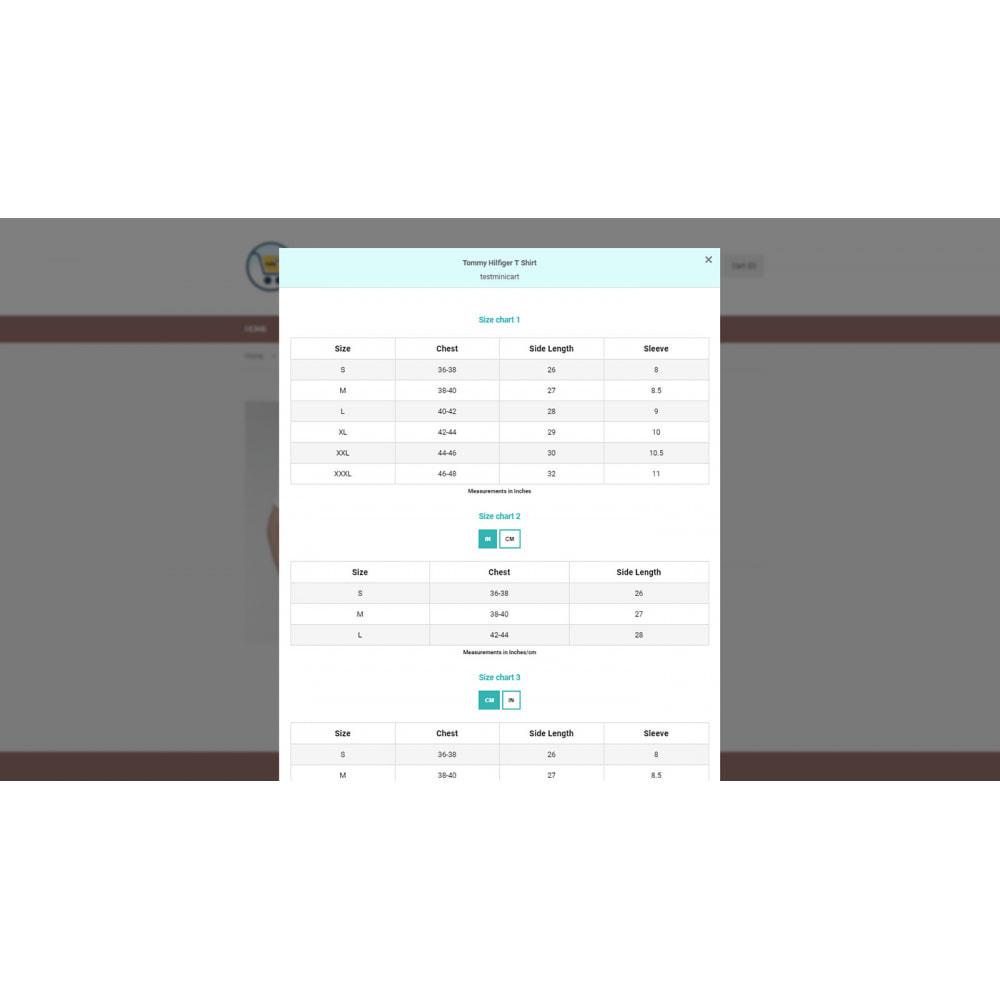 module - Altre informazioni & Product Tab - Ultimate Size Chart - 4