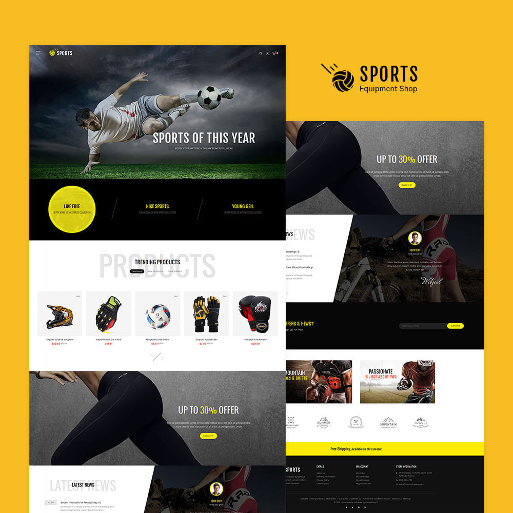 theme - Sports, Activities & Travel - Sports Store - 2