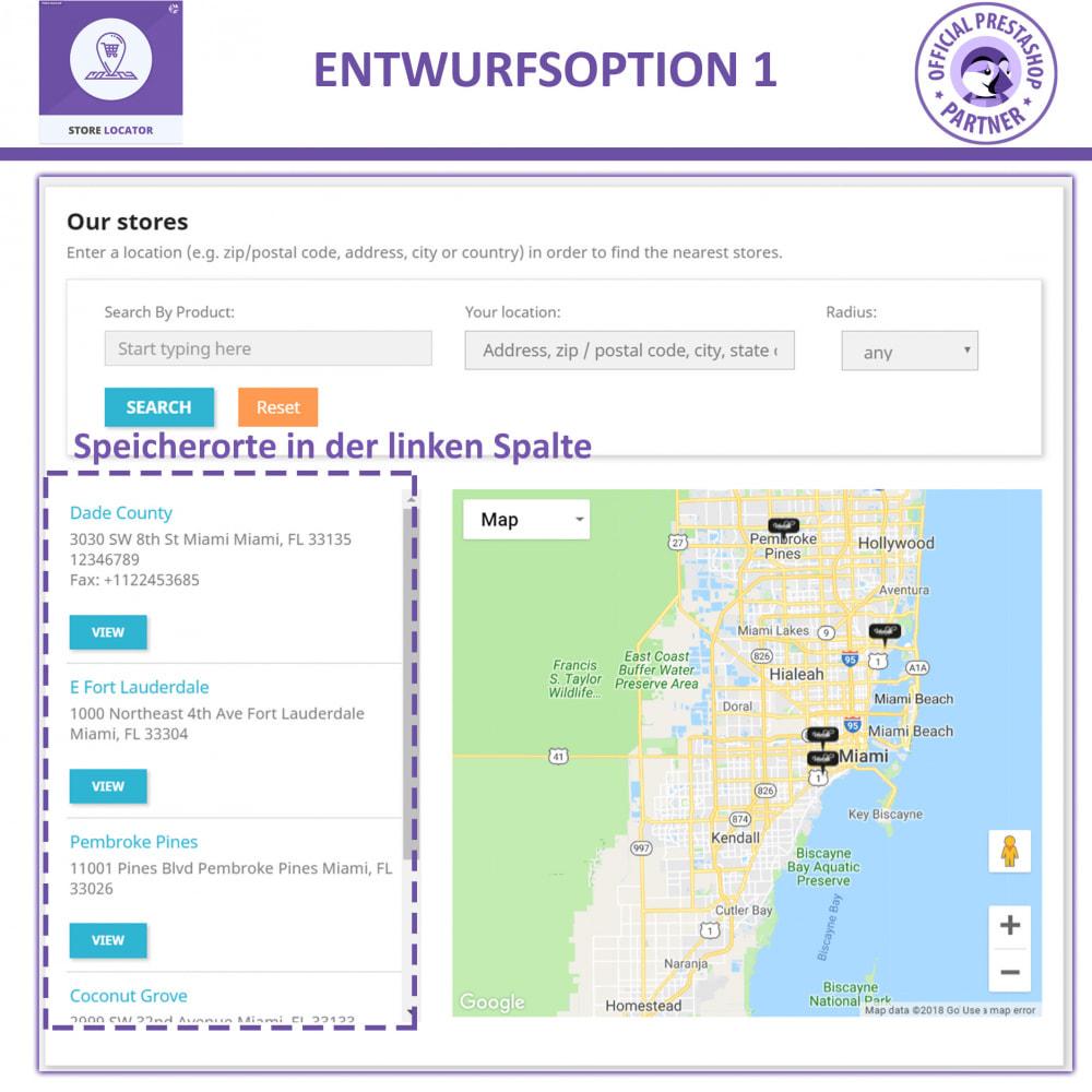 module - Internationalisierung & Lokalisierung - Shopfinder mit Google Maps - 2