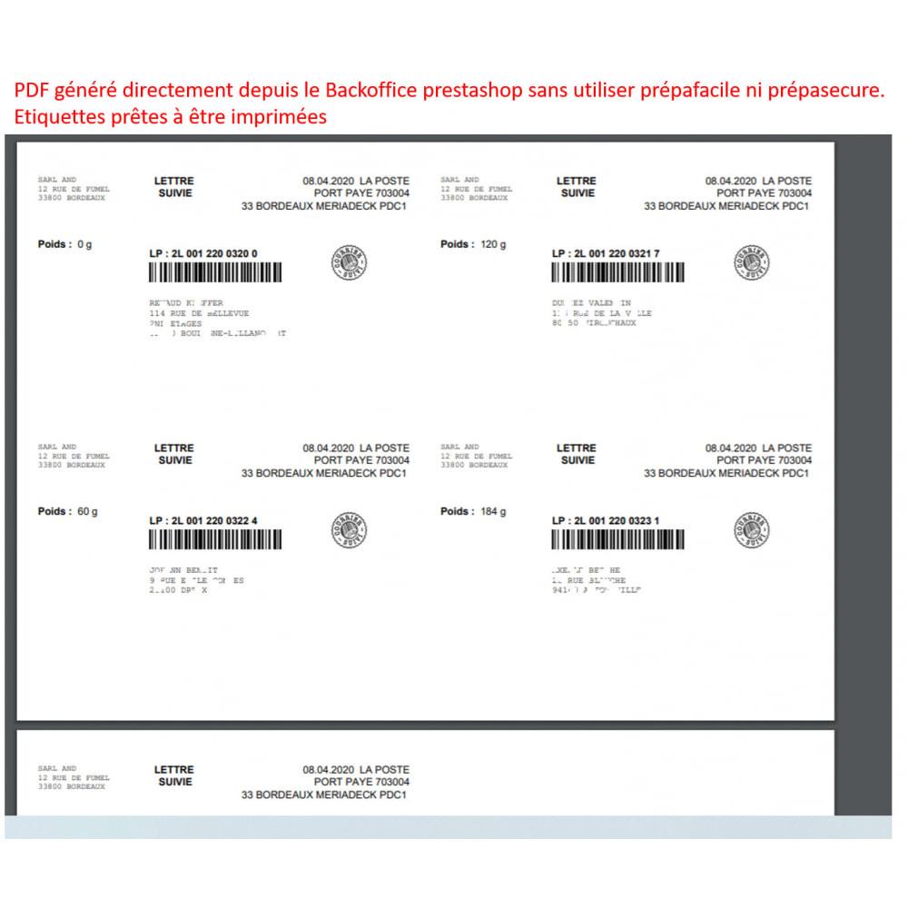 module - Etiquettes & Logos - Étiquetage courrier suivi, port payé - 1