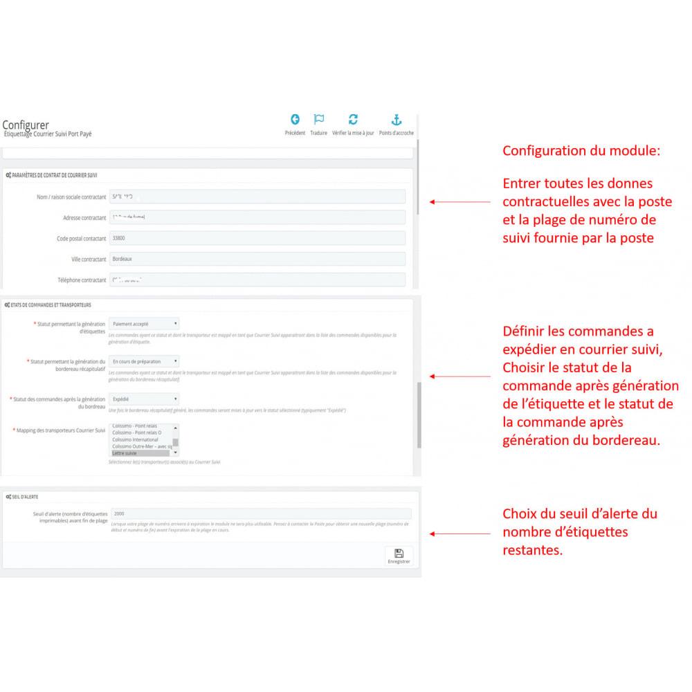 module - Etiquettes & Logos - Étiquetage courrier suivi, port payé - 6