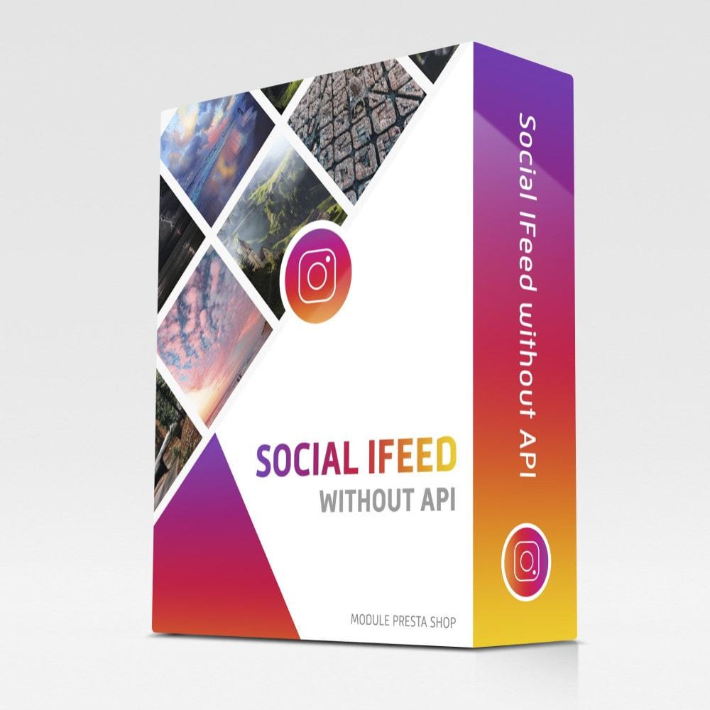 module - Widgety serwisów społecznościowych - Social IFeed without API - 1