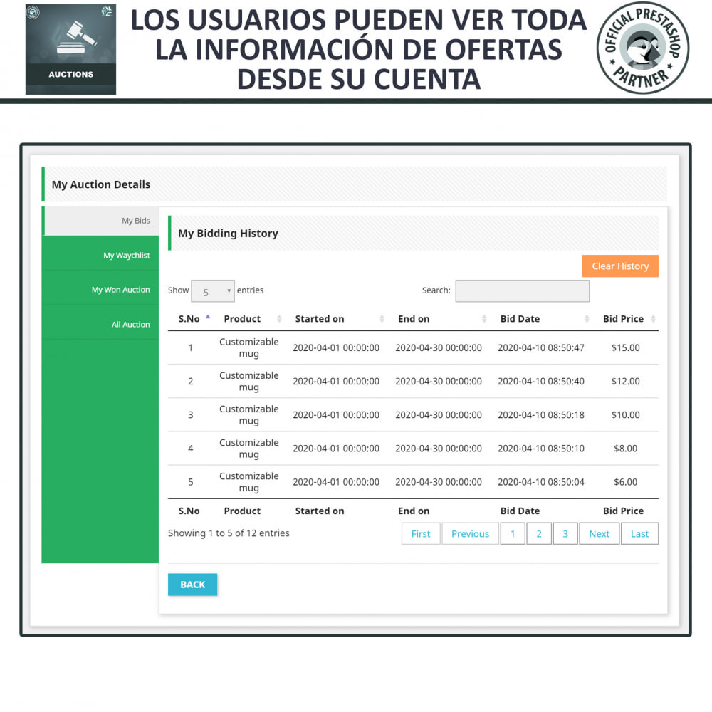module - Web de Subastas - Subasta Pro - Subastas en línea y oferta - 18