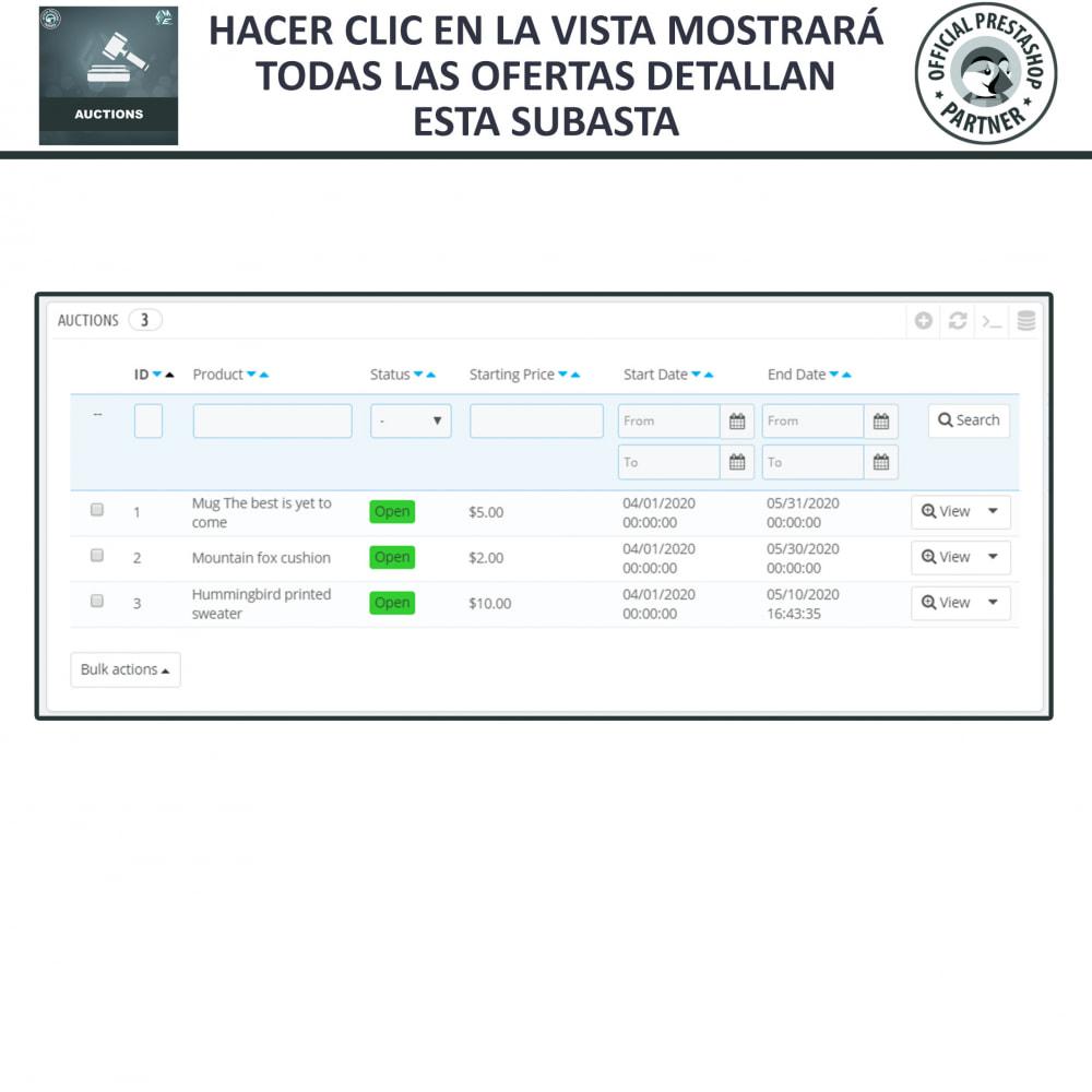 module - Web de Subastas - Subasta Pro - Subastas en línea y oferta - 19