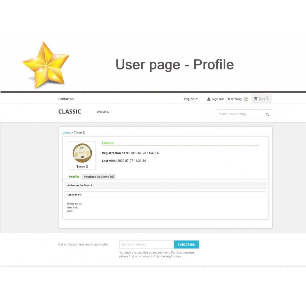 module - Widgets réseaux sociaux - Produit Avis + Programmes fidélité + Profil utilisateur - 12