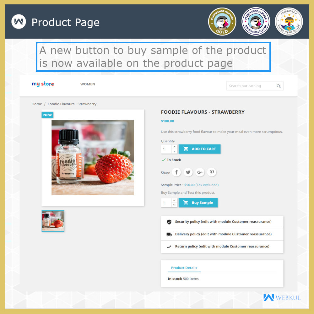 module - Additional Information & Product Tab - Sample Product | Try Before Purchase - 3