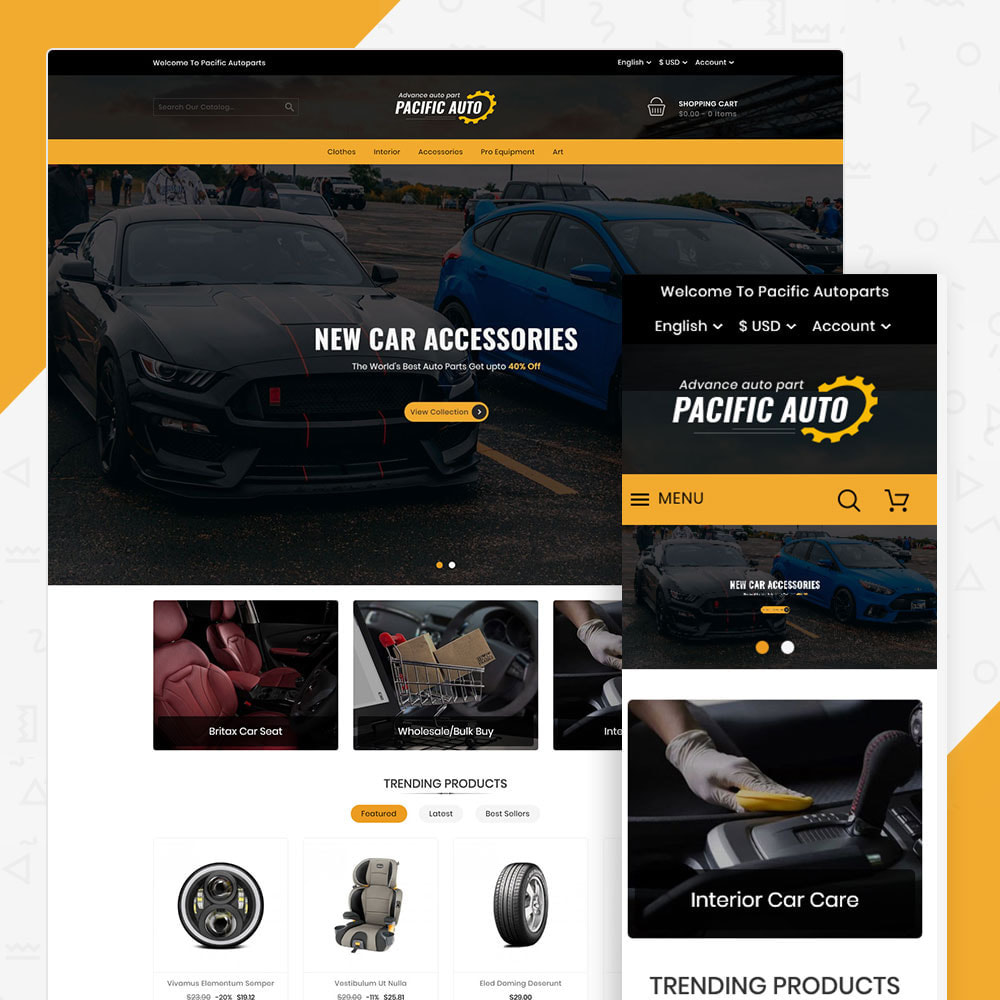 theme - Automotive & Cars - Pacific Auto Store - 1