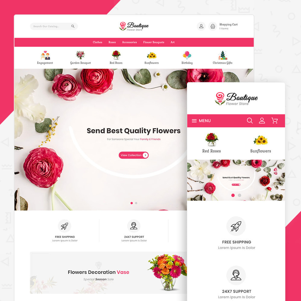 theme - Gifts, Flowers & Celebrations - Boutique flower store - 1