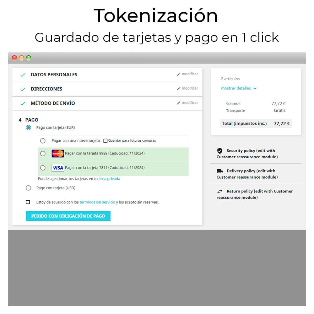 module - Pago con Tarjeta o Carteras digitales - Pago tarjeta TPV Virtual CECA y devoluciones (y Bizum) - 7