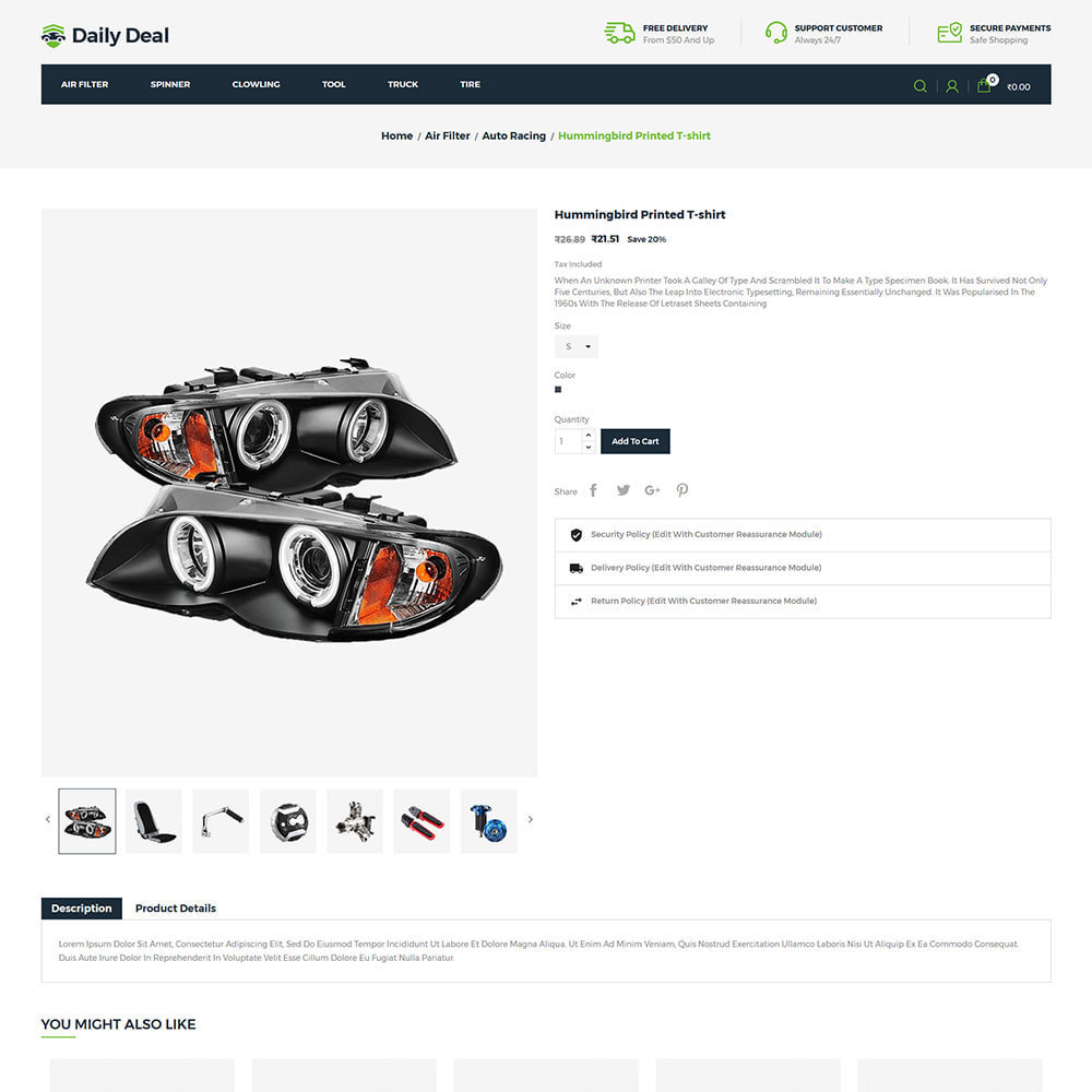theme - Automotive & Cars - Daily Deal - Tool Auto Car  Store - 5
