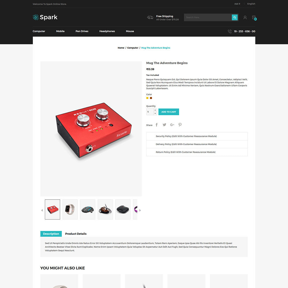 theme - Авто и Мото - Spark Mobile - Digital Electronics Store - 4