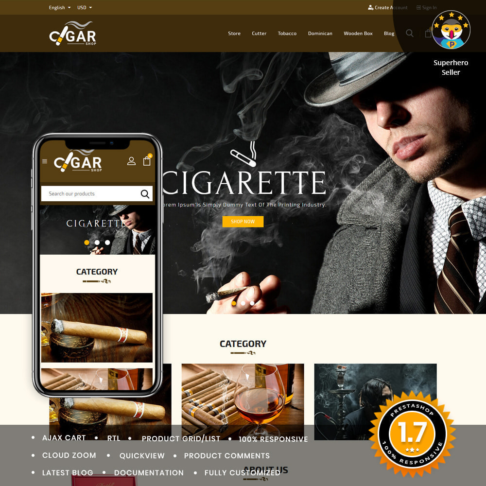 theme - Drank & Tabak - Cigar Drink & Tobacco - 1