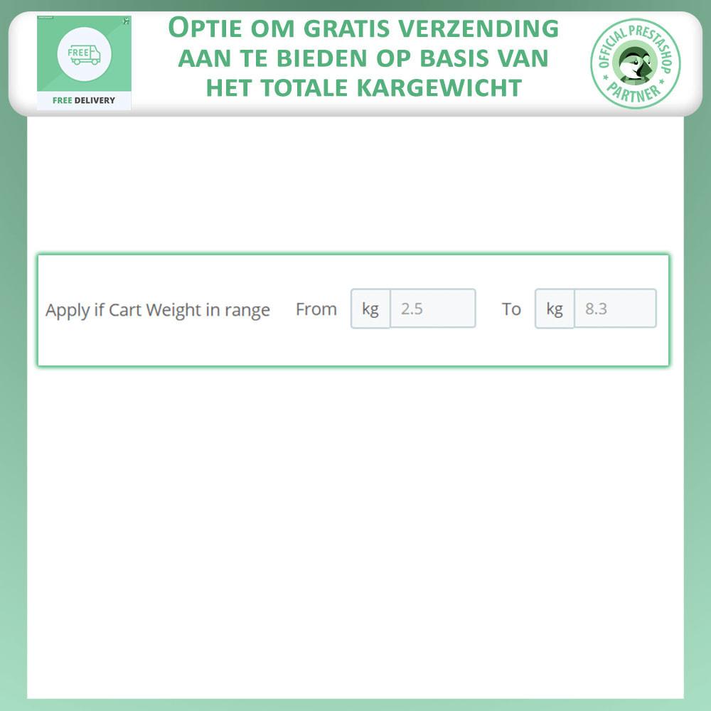 module - Verzendkosten - Geavanceerde Gratis Verzending - 6