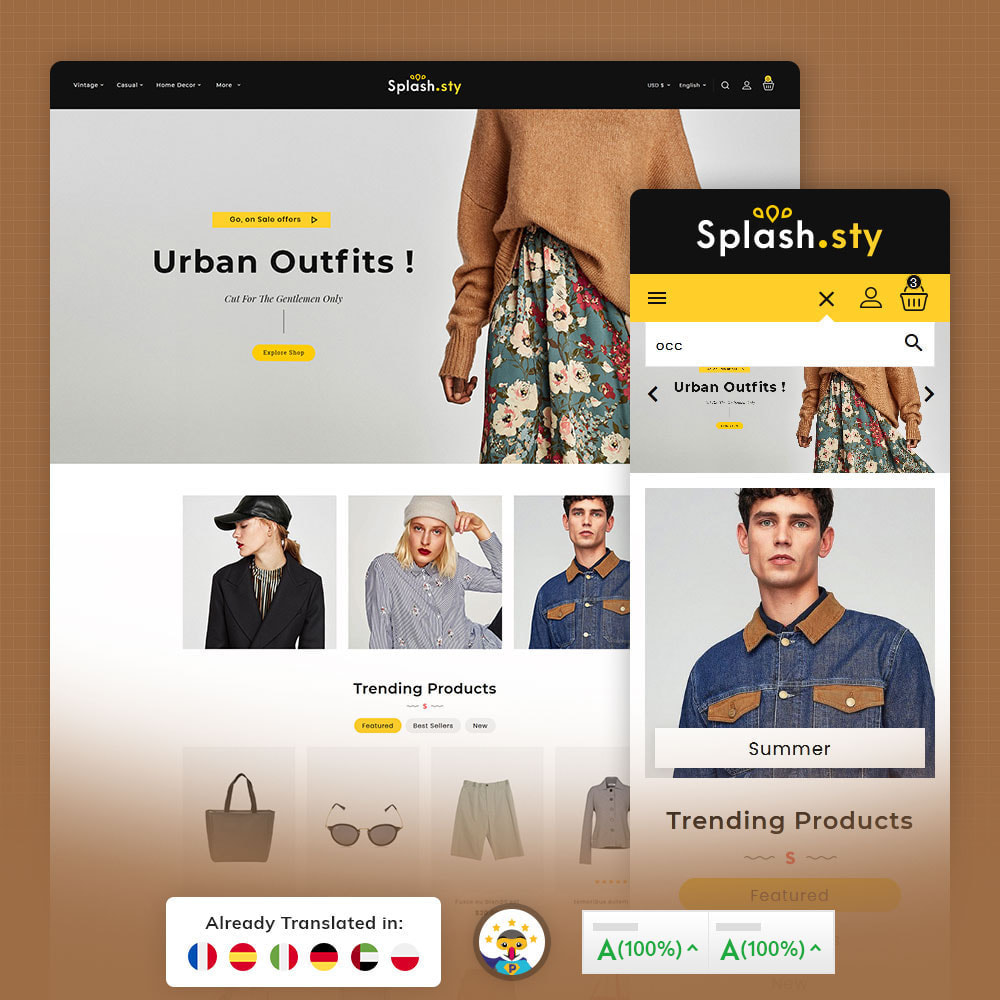 theme - Fashion & Shoes - Splash Style Fashion Store - 1
