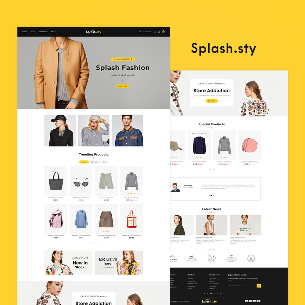 theme - Fashion & Shoes - Splash Style Fashion Store - 2