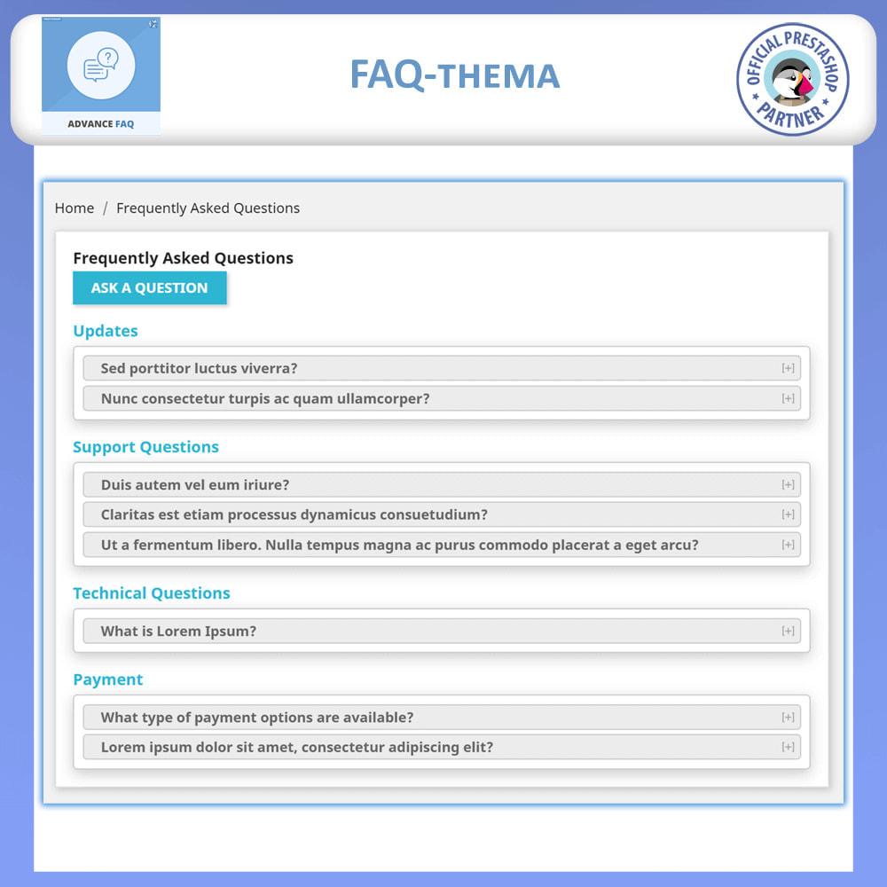 module - FAQ (Veelgestelde vragen) - Geavanceerde FAQ - Veelgestelde Vragen - 5