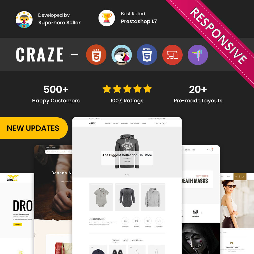 theme - Moda y Calzado - Craze - La tienda en línea multipropósito - 1