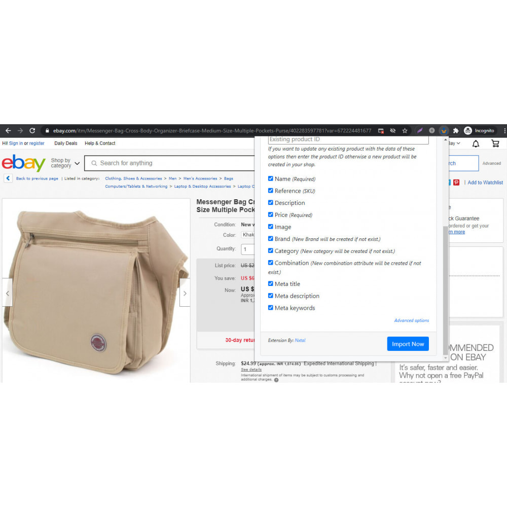 module - Importação & exportação de dados - Advanced Ebay Product Importer - 1