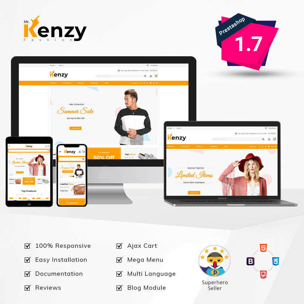 theme - Mode & Chaussures - Kenzy - Fashion Store - 1