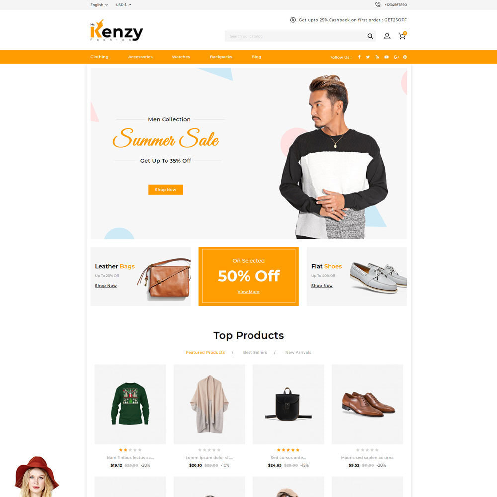 theme - Mode & Chaussures - Kenzy - Fashion Store - 2