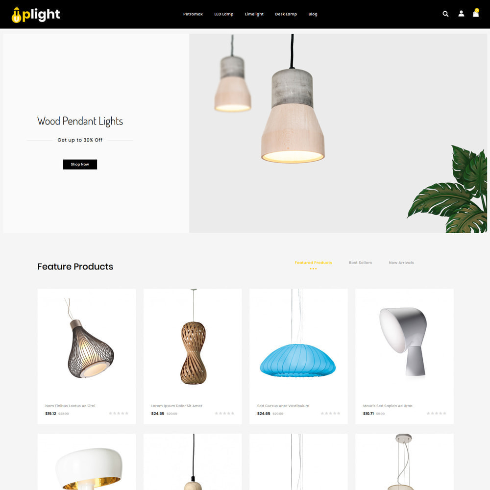 theme - Home & Garden - Uplight - Light Shop - 2
