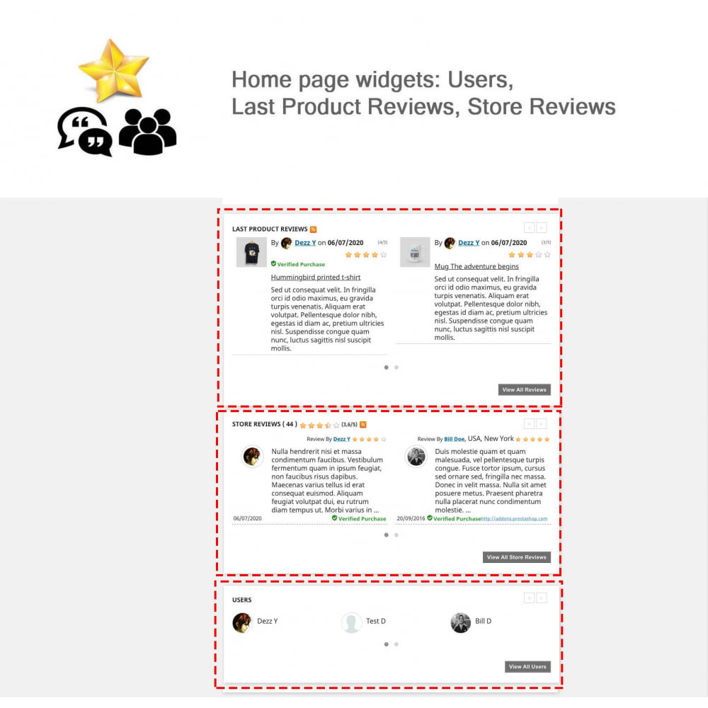 module - Recensioni clienti - Product Reviews+Shop Reviews, Loyalty Program, Reminder - 5