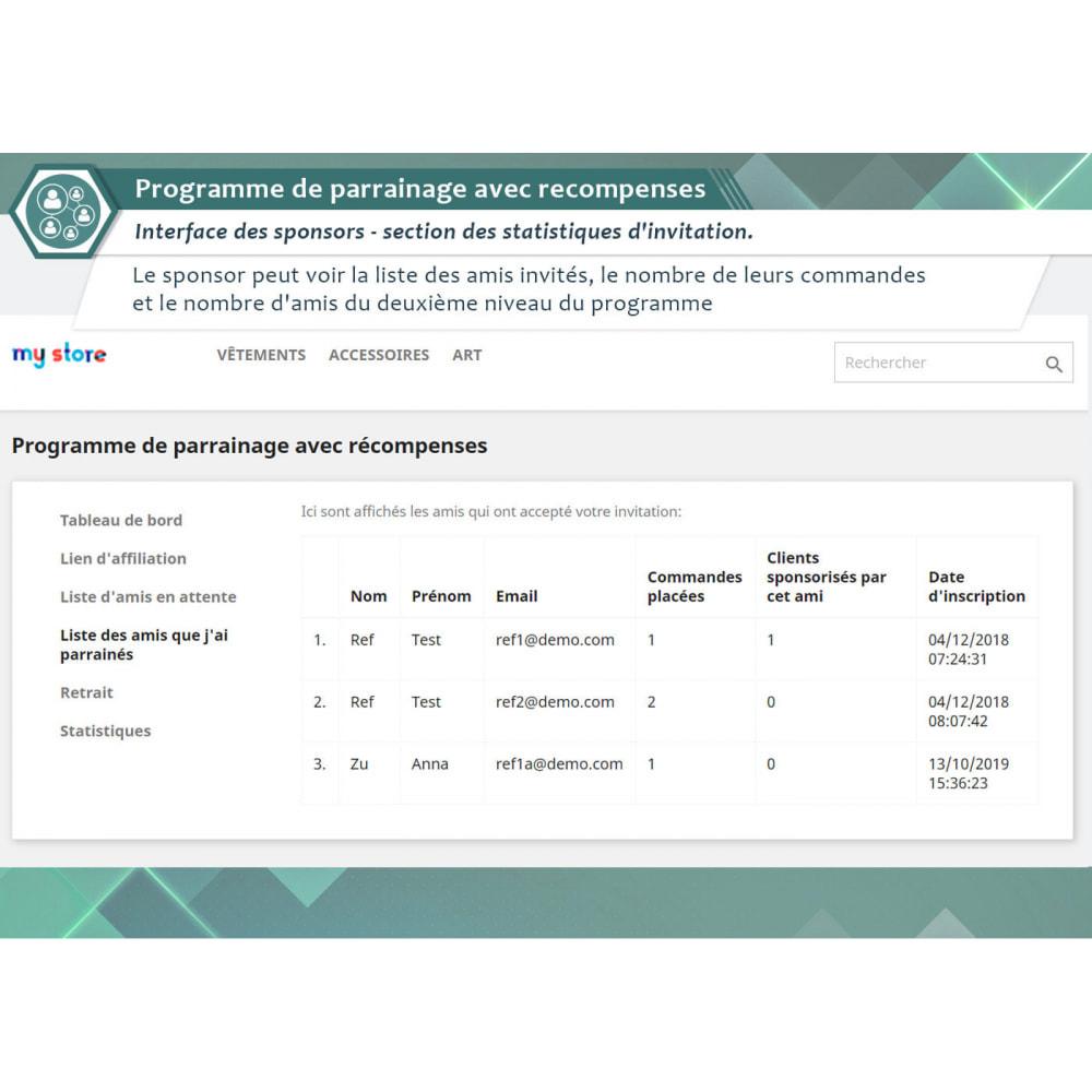 module - Fidélisation & Parrainage - Programme de parrainage avec recompenses - 3