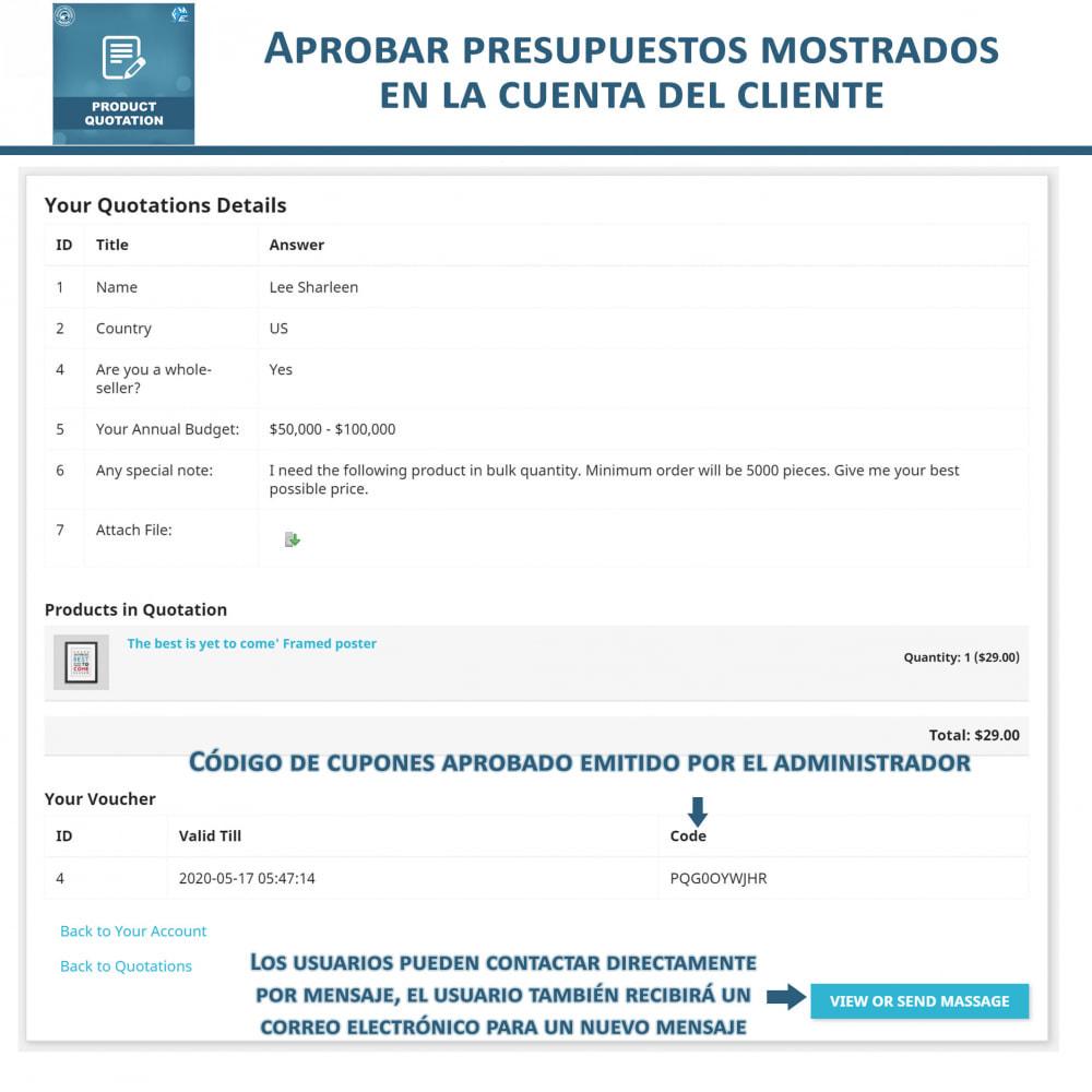 module - Presupuestos - Cotización de Producto - Permitir al Cliente Cotizar - 7